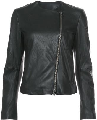 Vince round-neck zip jacket
