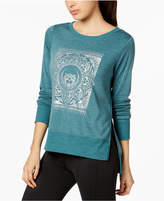 Gaiam Lyla Graphic Fleece Top