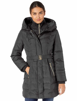Kensie Women's Long Down Coat with Hood