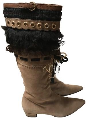 Miu Miu Beige Leather Boots