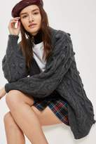 Topshop Cable bobble cardigan