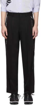 Comme des Garcons Black Wool Side Slit Trousers