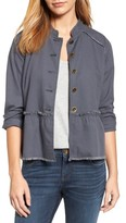Petite Women's Caslon Twill Peplum Jacket