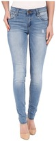KUT from the Kloth Mia Toothpick Five-Pocket Skinny Jeans in Valuable w/ Medium Base Wash