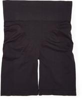 Joan Vass Black Medium Compression Seamless Leg Slimmer - Plus