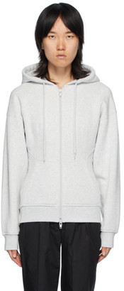 alexanderwang.t Grey Sculpted Zip-Up Hoodie
