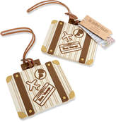 Kate Aspen Set Of 12 Let The Journey Begin Vintage Suitcase Luggage Tags