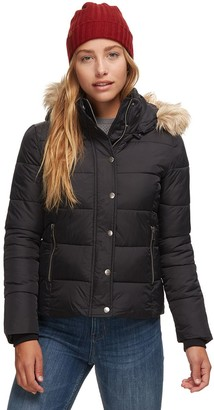 Stoic Cropped Faux Fur Hooded Puffer Jacket - Women's