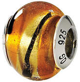 Murano Prerogatives Sterling Yellow & Black Italian Glass Bead