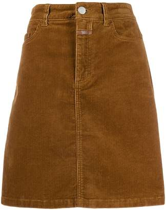 Closed high waisted corduroy skirt