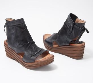 Miz Mooz Leather Wedges Sandals - Anna