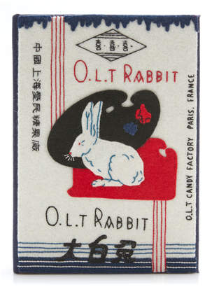 Olympia Le-Tan Olympia Le Tan O.L.T. Rabbit Appliqued Embroidered Canvas Clutch