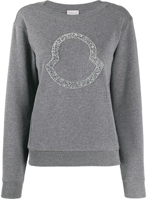 Moncler beaded logo sweatshirt