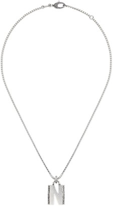 """Gucci Silver """"N"""" letter necklace"""