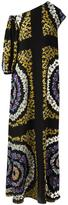 MSGM floral print asymmetric dress - women - Silk - 40