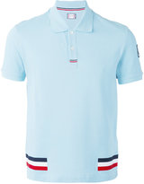 Moncler Gamme Bleu tri-colour stripe polo shirt - men - Cotton - XL