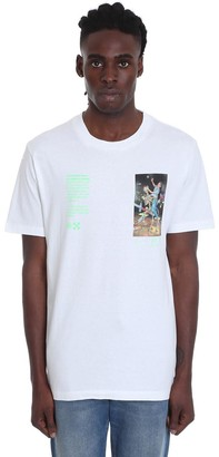 Off-White Pascal Painting T-shirt In White Cotton