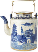 One Kings Lane Large Great Wall Teapot, Blue/White