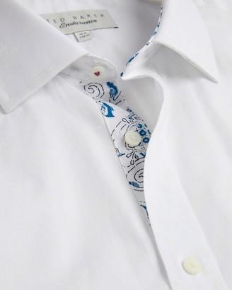 Ted Baker Cotton Endurance Feather Print Shirt