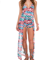Luli Fama Wandress Romper In Multicolor (L517861)