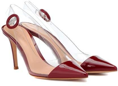 Gianvito Rossi Alice slingback patent leather pumps
