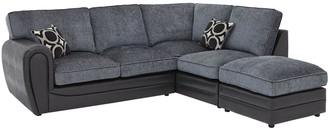 Bardot Right-Hand Standard Back Corner Chaise Sofa +Footstool