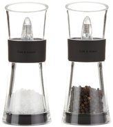 Cole & Mason Inverta Flip Salt and Pepper Mill Gift Set - Acrylic and Chrome/Silver, 15.4 cm