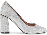 RED Valentino Glittered Leather Pumps