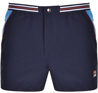 Fila Vintage Hightide 4 Stripe Shorts Navy