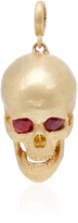 Luis Morais Skull Charm Medium with Moveable Jaw and Gemfields Ruby Eyes