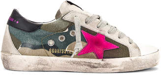 Golden Goose Superstar Sneaker in Camouflage & Fuchsia | FWRD