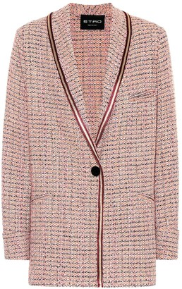 Etro Metallic cotton-blend tweed blazer