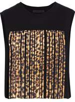 Alexander Wang Cropped Printed Cotton-Jersey Top