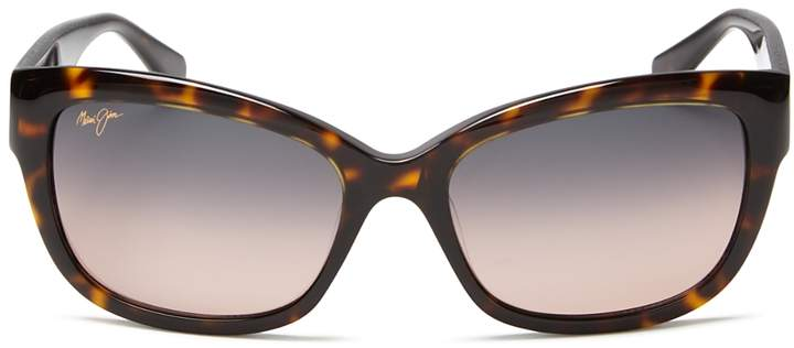 Maui Jim Women's Plumeria Cat Eye Sunglasses, 55mm