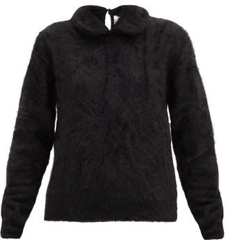 Noir Kei Ninomiya Peter Pan-collar Brushed-cashmere Sweater - Black