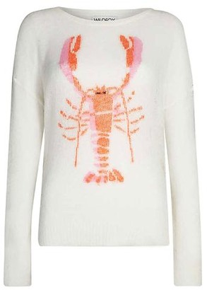 Wildfox Couture The Rock Lobster Knit In White - XS
