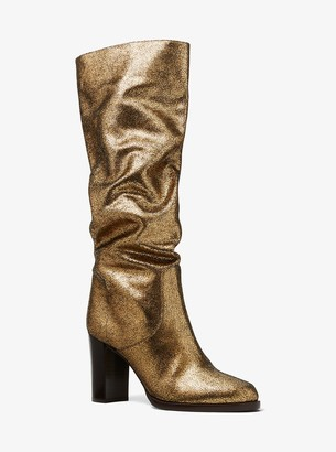 Michael Kors Lucienne Metallic Suede Boots