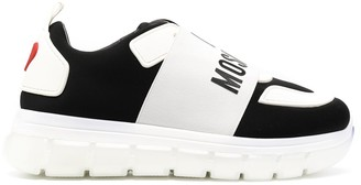 Love Moschino Panelled Logo Low-Top Sneakers