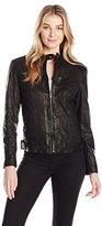 Cole Haan Women's Signature Leather Moto Jacket