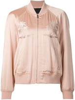 Alexander Wang embroidered palm tree bomber jacket