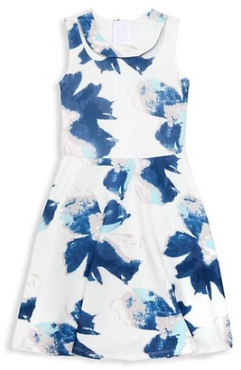 Laundry by Shelli Segal Girl's Floral Fit--Flare Dress