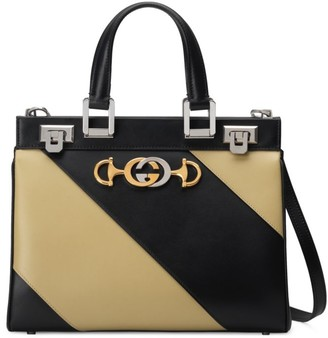 Gucci Zumi Diagonal Stripe Small Top Handle Bag