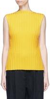 Enfold Pleated rib knit sleeveless top
