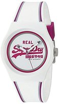 Superdry Women's 'Urban Retro' Quartz Plastic and Silicone Dress Watch, Color:White (Model: SYG198WR)
