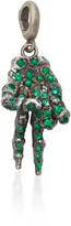 Luis Morais To the Bone Short Peace Sign Charm with Gemfields Emeralds