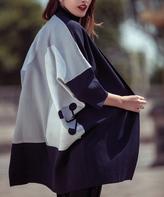 Yuka Paris Indigo Color Block Yara Kimono