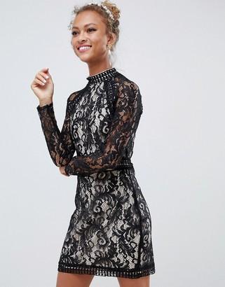 Parisian long sleeve lace dress