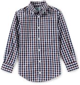 Class Club Little Boys 2T-7 Checked Button-Down Long-Sleeve Shirt