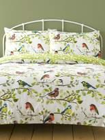 M&Co Birds brushed cotton duvet set