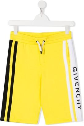 Givenchy Kids stripe detail shorts